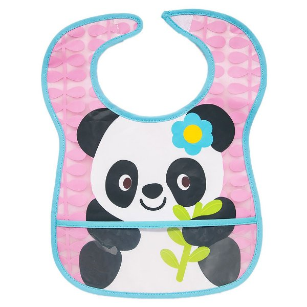 Babador Impermeável com Bolso Panda - Buba