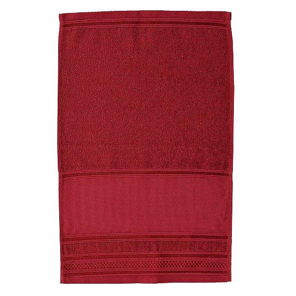 Toalha de Lavabo Pinte e Borde - Vermelho Cereja - Santista