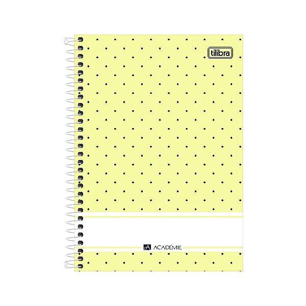 Caderno 1/4 Espiral Académie - Amarelo - 80 Folhas - Tilibra