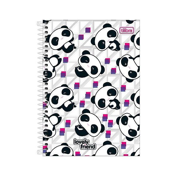 Caderno 1/4 Espiral Lovely Friend - Mini Pandas - 80 Folhas - Tilibra