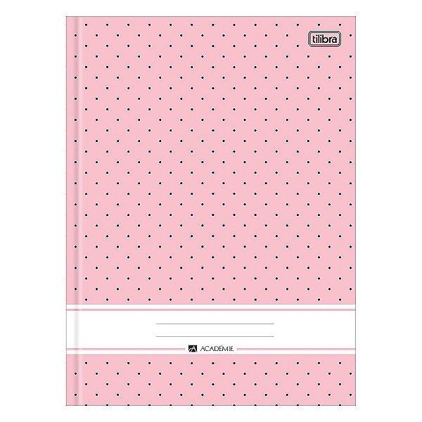 Caderno Brochura Académie - Rosa - 96 Folhas - Tilibra