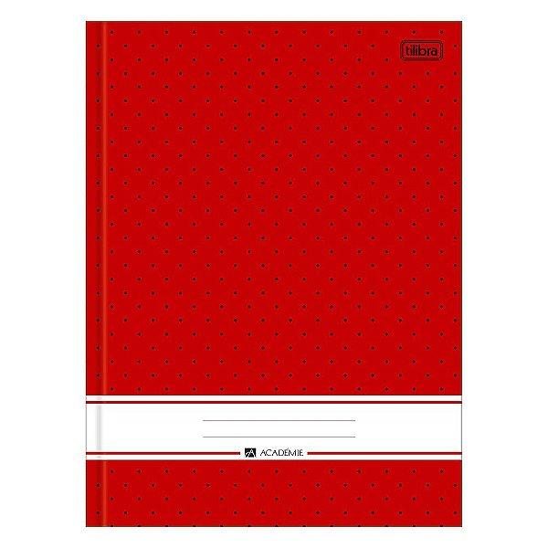Caderno Brochura Académie - Vermelho - 96 Folhas - Tilibra