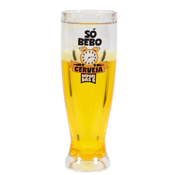 Copo Gel Cerveja 450ml - Só Bebo Depois Das 6 - Brasfoot