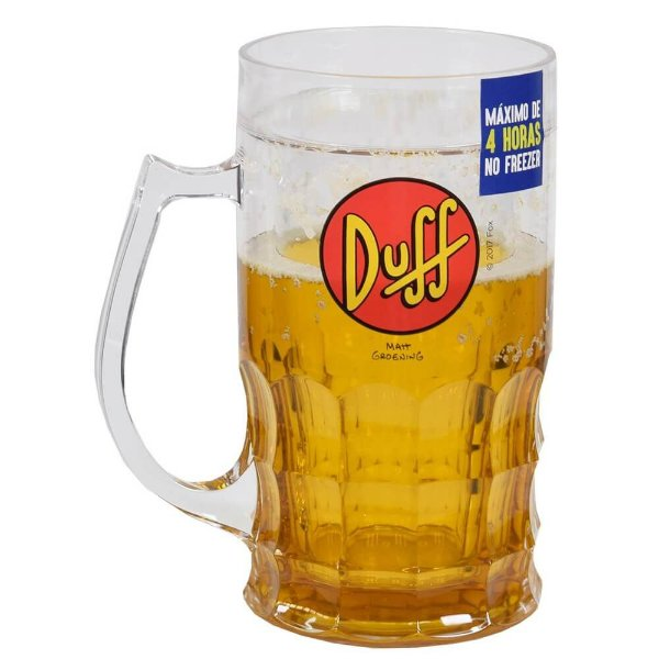 Caneca Sempre Cheia 500ml - Duff Beer - Zona Criativa