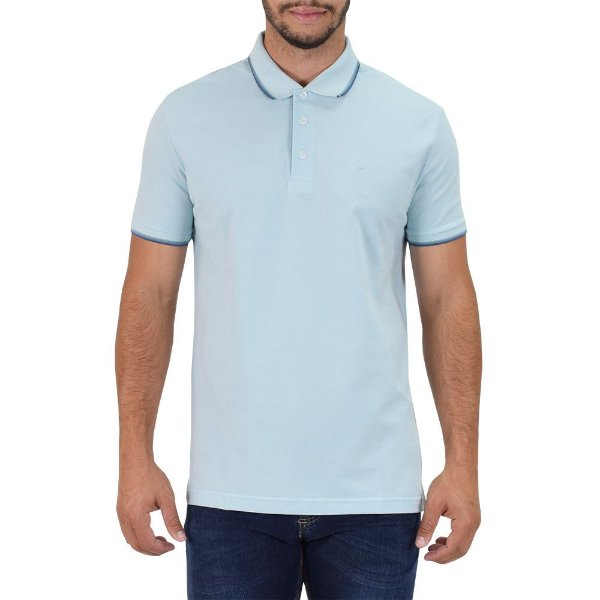 Camisa Polo Básica - Azul Claro - Ellus