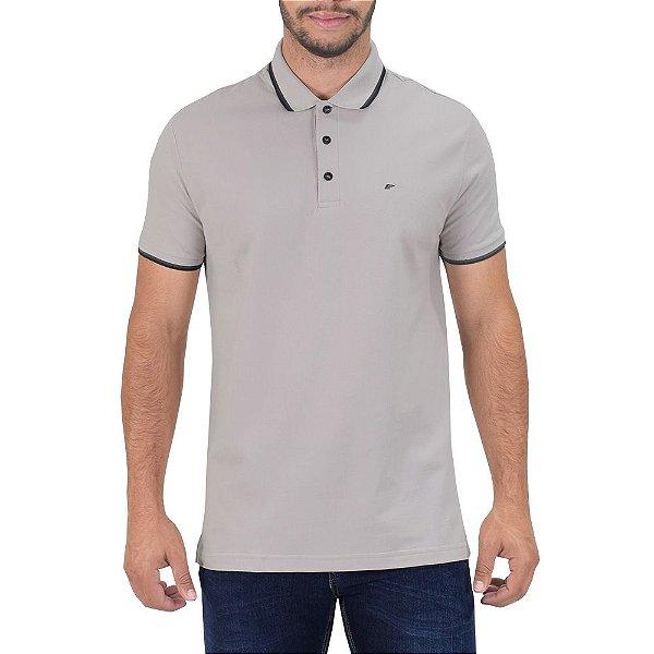 Camisa Polo Básica -  Cinza Claro - Ellus