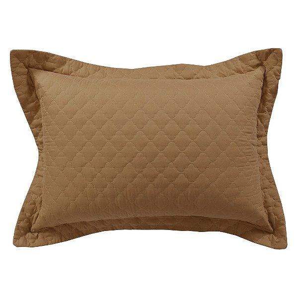 Porta Travesseiro Mosaico - Camelo - Lavive