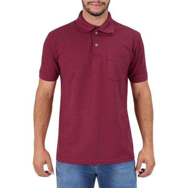 Camisa Polo Masculina - Vinho - Wayna