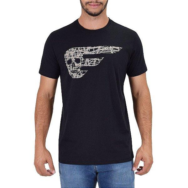 Camiseta Masculina Skull Chains - Preta - Ellus Por Herchcovitch