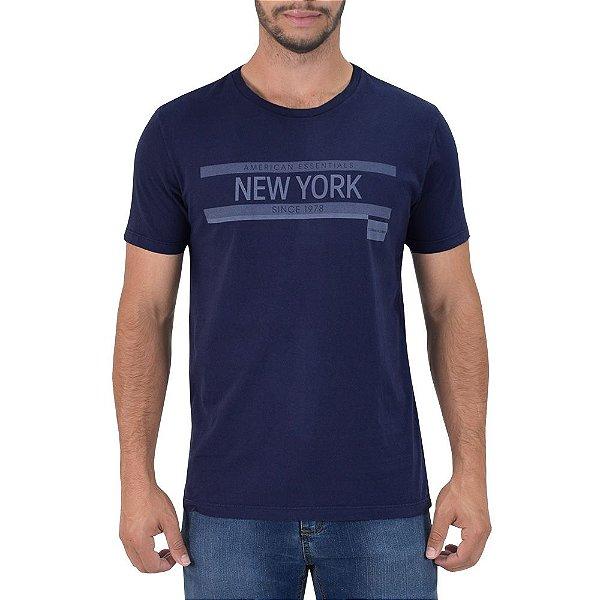 Camiseta Masculina New York Regular Fit - Azul - Calvin Klein