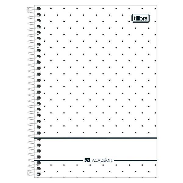 Caderno Académie Poá Branco - 1 Matéria - Tilibra