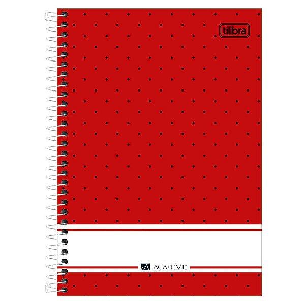 Caderno Académie Poá - Vermelho - 10 Matérias - Tilibra