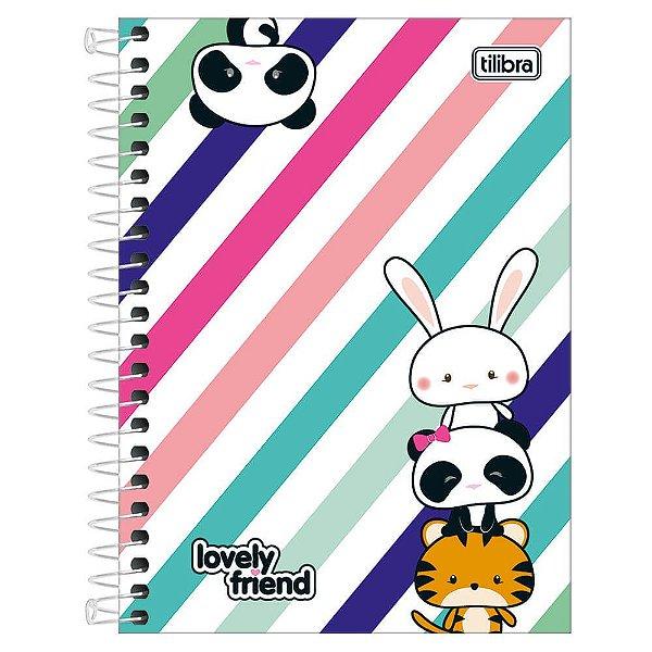 Caderno Lovely Friend - Panda e Amiguinhos - 10 Matérias - Tilibra