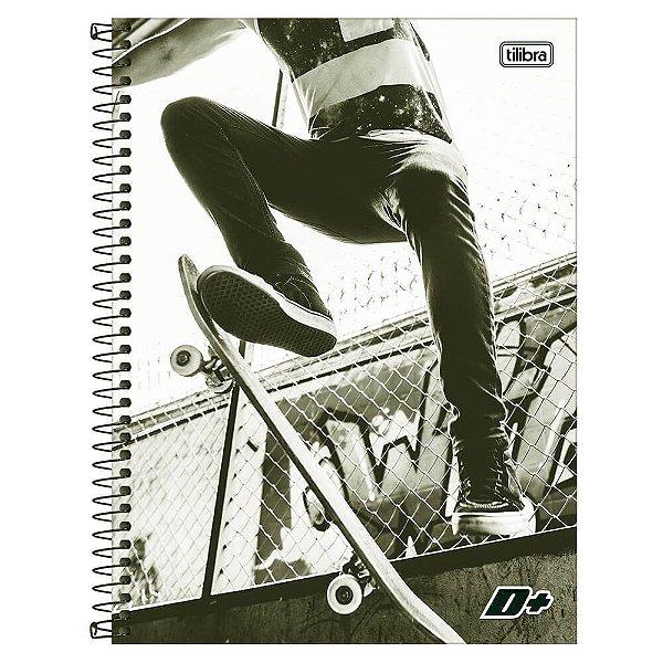 Caderno D+ Masculino - Skate - 16 Matérias - Tilibra