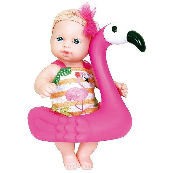 Boneca Hora do Banho - Flamingo - Cotiplás