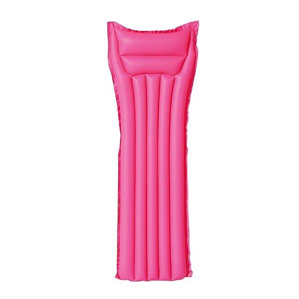 Colchão Inflável Liso - Rosa - Bel Splash