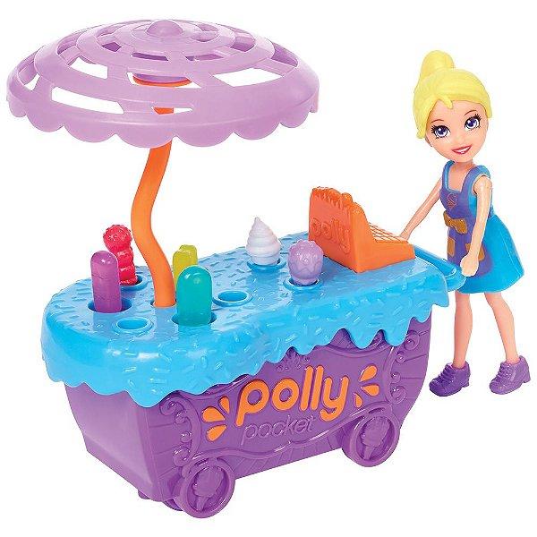 Polly Pocket - Carrinho de Sorvetes Divertidos - Mattel