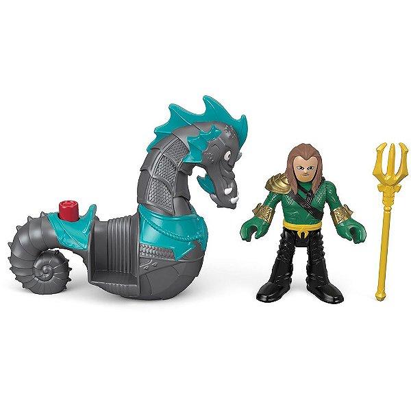 Imaginext Aquaman - Aquaman & Cavalo-Marinho - Mattel