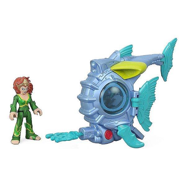 Imaginext Aquaman - Mera Submarino de Batalha - Mattel