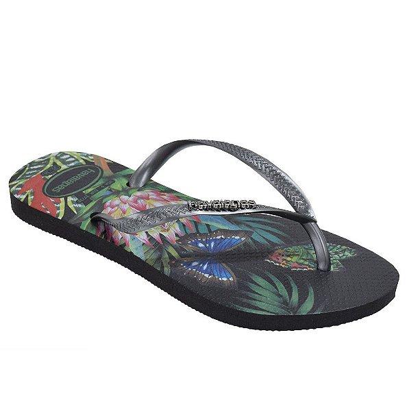 Chinelo Feminino Slim Tropical - Havaianas