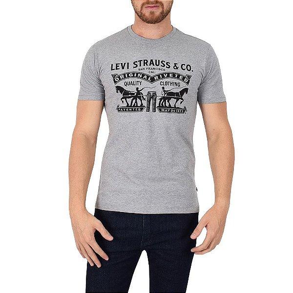 Camiseta Masculina Quality Clothing - Cinza - Levis