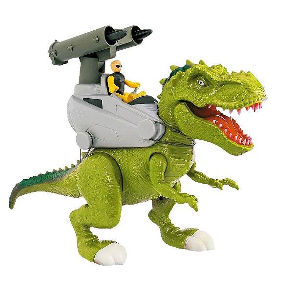 Dinossauro Rex Attack - Lança Míssil - Adijomar