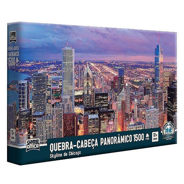 Quebra-Cabeça Panorâmico Skyline de Chicago – 1500 peças – Game Office