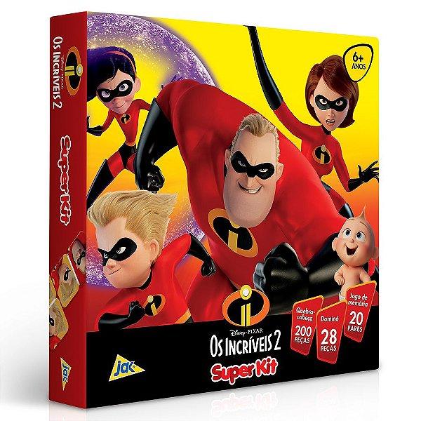 Super Kit de Jogos 3 em 1 - Os Incríveis 2 - Toyster