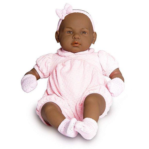 Boneca Bebê Real Negra - Roma