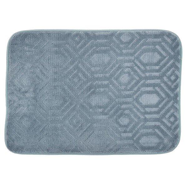 Tapete Confortex Para Banheiro 40cm x 60cm - Azul - Via Star