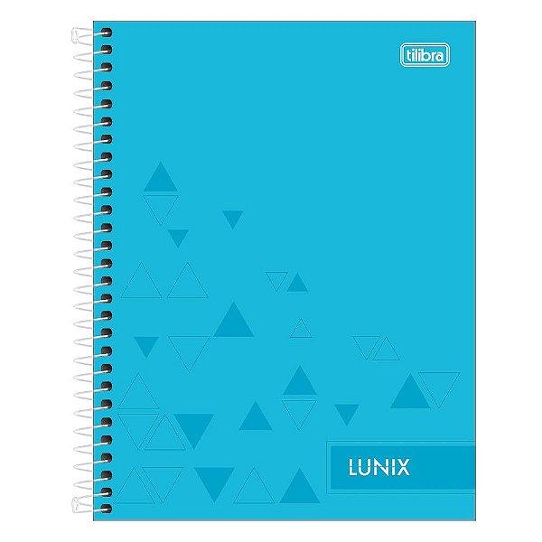 Caderno Colegial Lunix - Azul - 160 Folhas - Tilibra