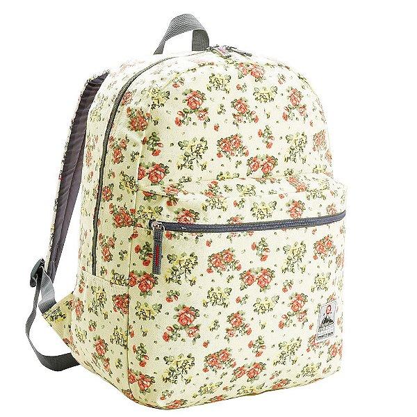 Mochila Teen Floral - Verde Claro - Republic Vix