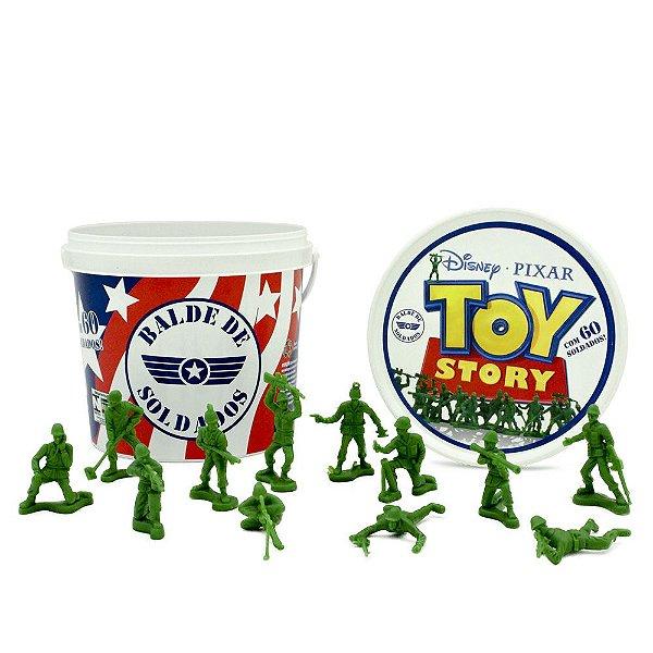 Balde com 60 Soldados Toy Story - Toyng