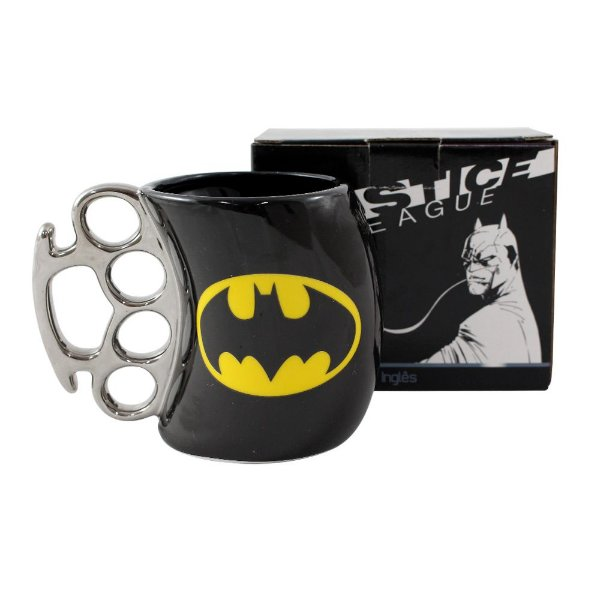 Caneca Soco Inglês 350ml - Batman Liga da Justiça - Zona Criativa