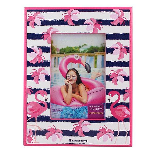 Porta Retrato Flamingos - Zona Criativa