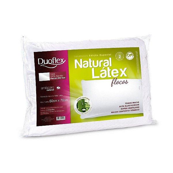 Travesseiro Natural Látex Flocos - Duoflex