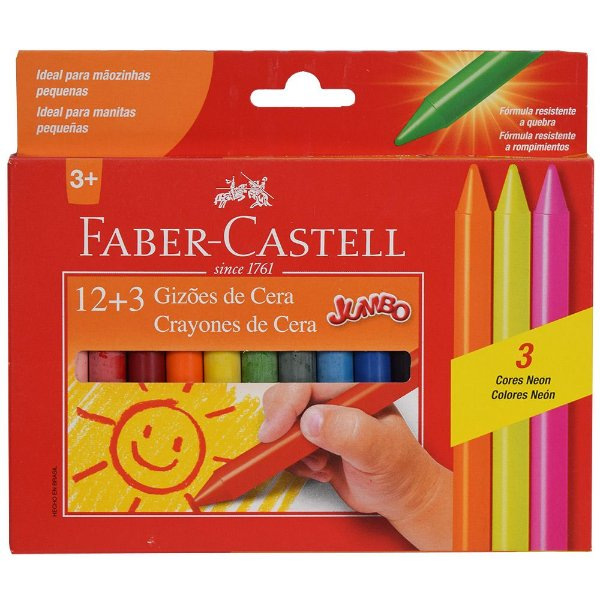 Gizões de Cera Faber Castell - 15 cores