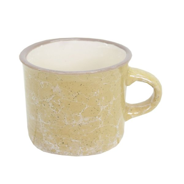 Mini Caneca Marble Colors 70ml - Caqui - Mimo Style