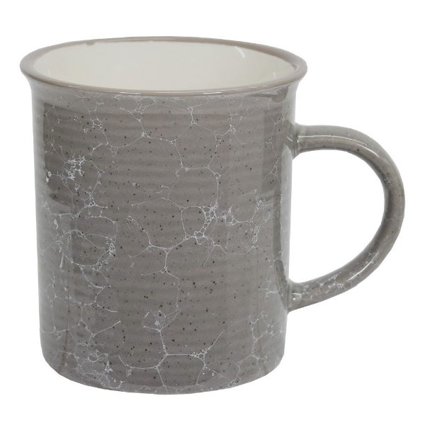 Caneca Marble Colors 290ml - Cinza - Mimo Style