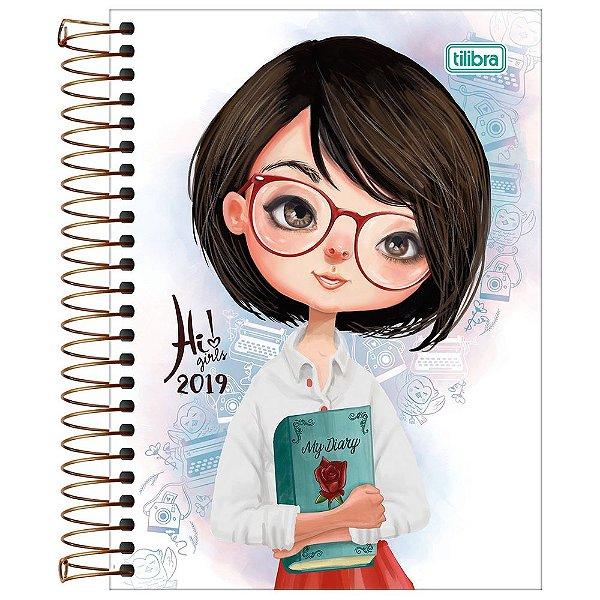Agenda Diária Hi Girls 2019 - Diário - Tilibra