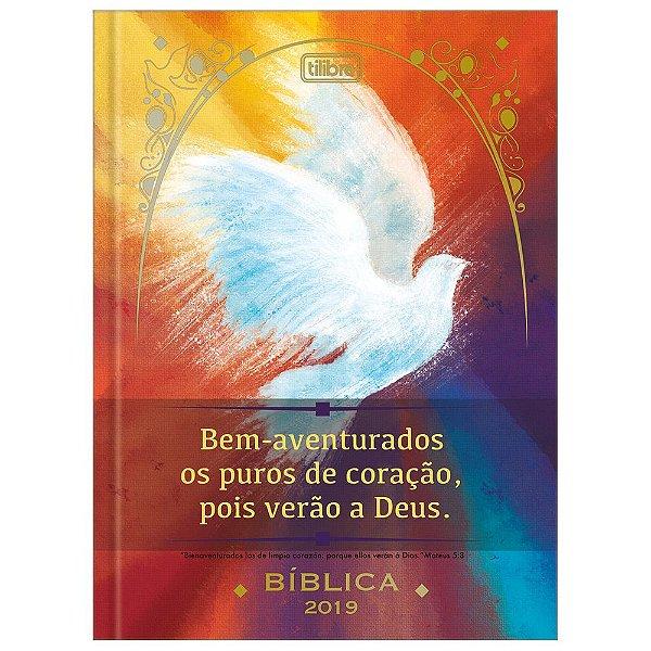 Agenda Diária Costurada Bíblica 2019 - Pombo - Tilibra