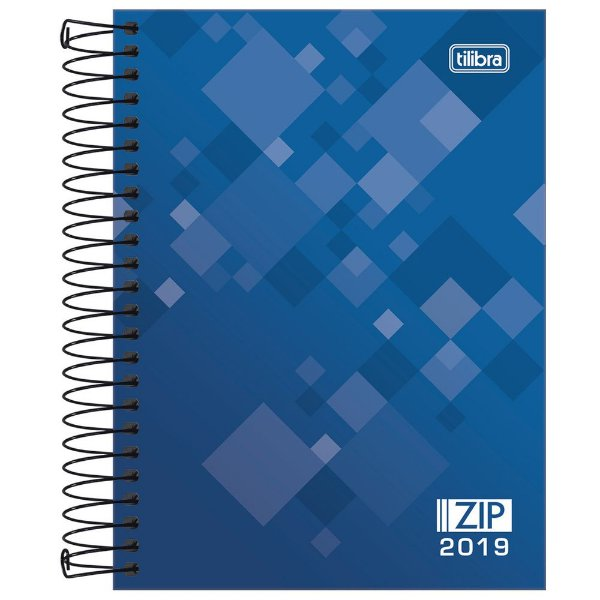 Agenda Diária Zip 2019 - Azul - Tilibra