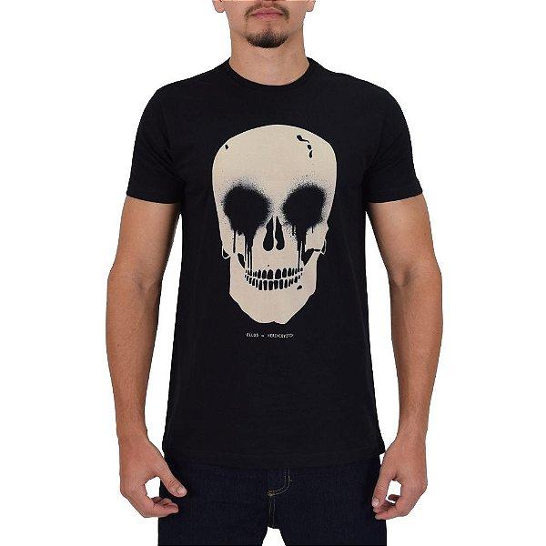 Camiseta Masculina Skull Spray Classic - Preta - Ellus Por Herchcovitch