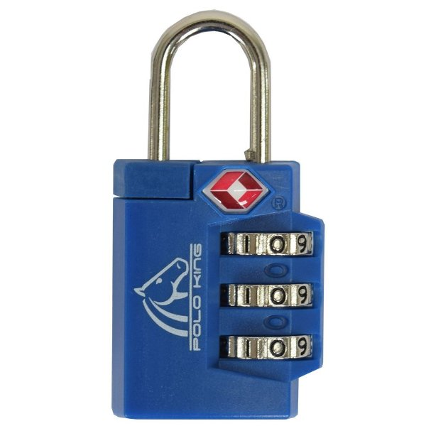 Cadeado Com Segredo TSA Lock - Azul - Polo King
