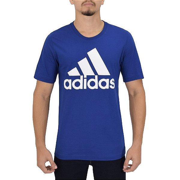 Camiseta Masculina Essentials - Azul - Adidas