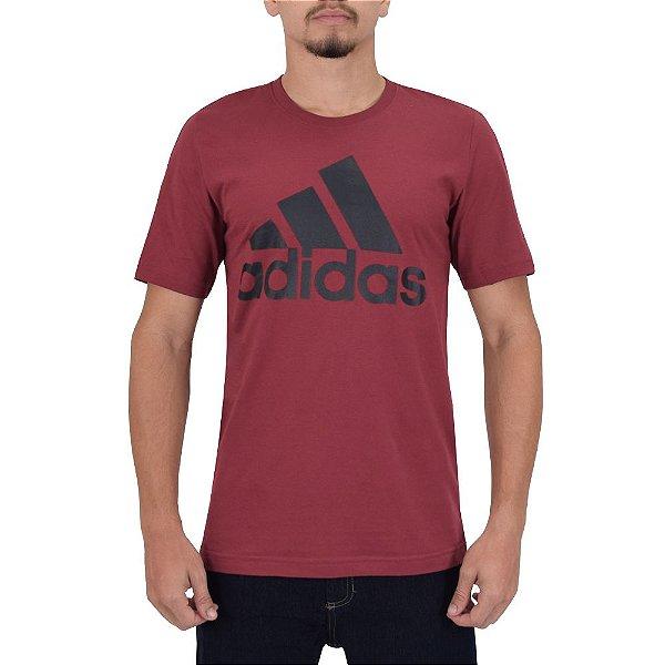Camiseta Masculina Essentials - Vinho - Adidas