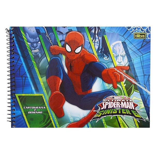 Caderno de Cartografia e Desenho - Ultimate Spider Man - 96 folhas - Tilibra