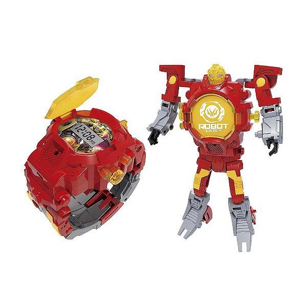 Robot Watch Vermelho - Relógio 2 em 1 - Multikids