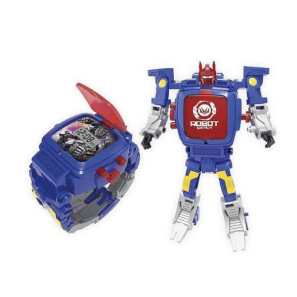 Robot Watch Azul - Relógio 2 em 1 - Multikids
