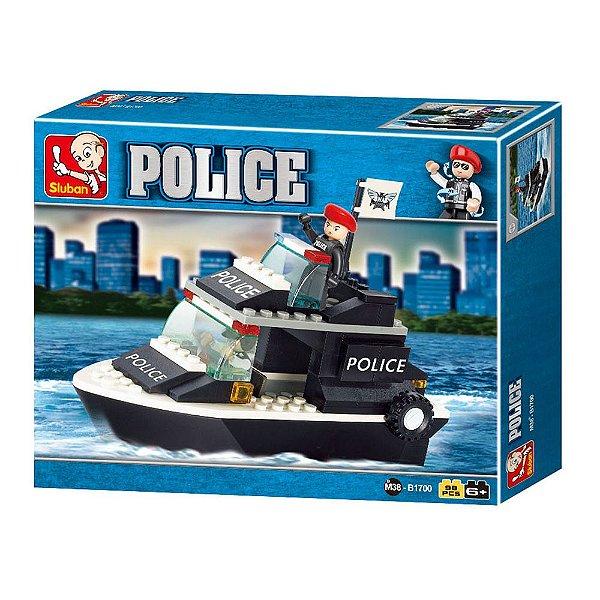 Blocos de Montar Police - Guarda Costeira - 98 Peças - Sluban